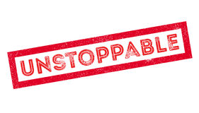 Unstoppable rubber stamp Stock Image