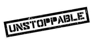 Unstoppable rubber stamp Stock Images