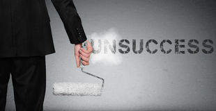 Unsuccess word painting on wall Royalty Free Stock Photo