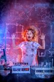 Unsuccessful chemical experiment stock image