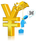 Unsuccessful Currency Business. Three dimension style and High Quality Image Stock Images