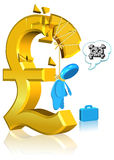 Unsuccessful Currency Business. Three dimension style and High Quality Image Royalty Free Stock Image