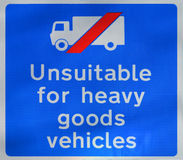 Unsuitable for heavy goods vehicles Royalty Free Stock Photos