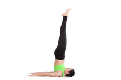 Unsupported Shoulderstand yoga asana Royalty Free Stock Photography