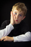 Unsure Young Boy Royalty Free Stock Images