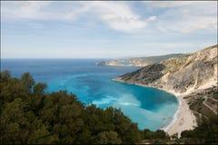 Untamed Greek coast Royalty Free Stock Images