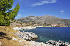 Untamed Greek coast Royalty Free Stock Photo