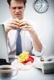 Untasty hamburger Stock Image