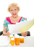 Hohe Kosten verschreibungspflichtige Medikamente und medizinische Behandlung Lizenzfreie Stockfotografie