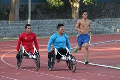Untaugliche Athleten Stockbilder