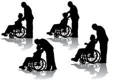 Untaugliche Person im Rollstuhl stock abbildung