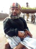 Untauglicher Bettler auf Straßen von Karachi, Pakistan stockbild