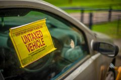 Untaxed And Clamped Car Royalty Free Stock Images