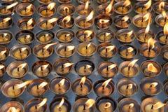 Unte con mantequilla las lámparas Imagenes de archivo