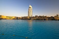 Unten Stadt Dubai Lizenzfreie Stockbilder