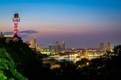 Unten Stadt Yokohama stockbilder