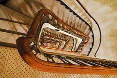 Unten Treppe stockfoto