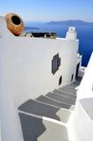 Unten Treppen zum Ägäischen Meer lizenzfreie stockfotografie