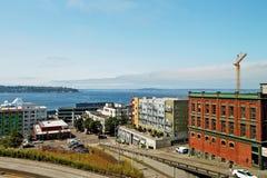 Unten von Seattle, WA Stockfoto