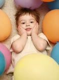 Unter Ballonen Lizenzfreies Stockfoto