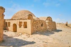 Unter dem alten Ritual-Khaiele in Dakhma-Standort, Yazd, der Iran Stockfotografie