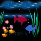 Unter dem Meer lizenzfreie abbildung