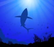 Unter dem Meer u. dem Ozean-Vektor Stockfotografie
