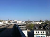Unter dem Recklinghausen-Stadt-` s Sun Stockbilder
