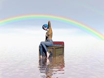 Unter dem Regenbogen Lizenzfreies Stockfoto