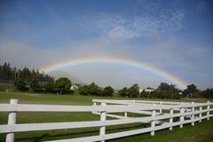 Unter dem Regenbogen Stockfotografie