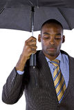 Unter dem Regenschirm Stockbild