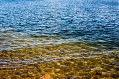 Unter dem See Stockbild