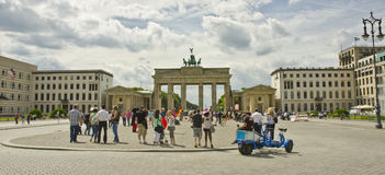 Unter den Linden boulevard and Brandenburg Gate, Berlin, Germany Royalty Free Stock Image
