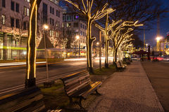 Unter den linden and christmas decoration Stock Photo
