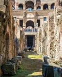 Unter der Arena Colosseum, Rom Stockfotografie