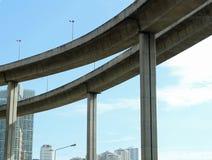 Unter der Brücke Stockfotos