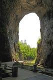 Unter der natürlichen Brücke Lizenzfreies Stockbild