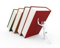 Unter Gewicht Wissen Stockbild