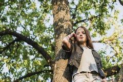 Unter großem Baum Lizenzfreie Stockbilder