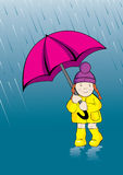 Unter Regen Lizenzfreies Stockbild