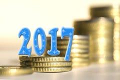 2017 unter Stangenmünzen Lizenzfreie Stockfotos