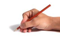 Unter Verwendung der Bleistifte Lizenzfreie Stockfotografie