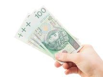Unter Verwendung der geld- Finanzen - Darlehen - Polen Stockfotos
