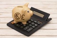Unter Verwendung der Pfund-Währung anstelle des Euros Stockfoto