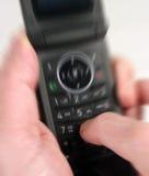 Unter Verwendung eines mibile Telefons Stockfotografie