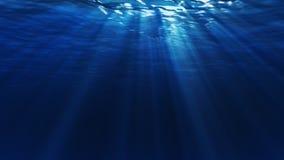 Unter Wasser-Dunkelheits-Schleife stock footage