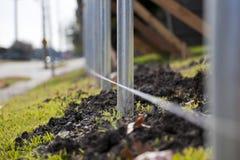Unterbringung - Zaun im Bau Stockbild