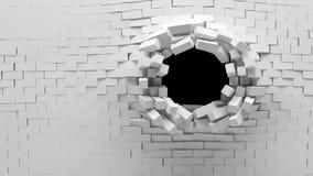 Unterbrochene Backsteinmauer lizenzfreie abbildung