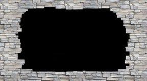 Unterbrochene Backsteinmauer Stockfotografie