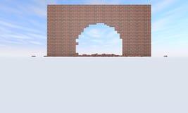 Unterbrochene Backsteinmauer Lizenzfreie Stockbilder